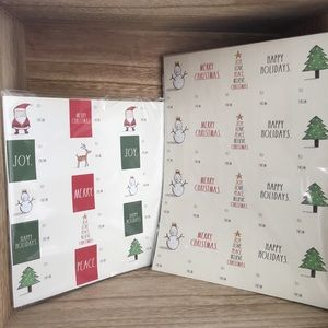 Rae Dunn Christmas Labels To & From New LL